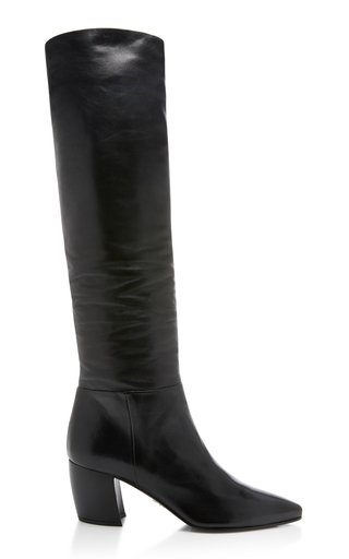 Slouchy Leather Boots