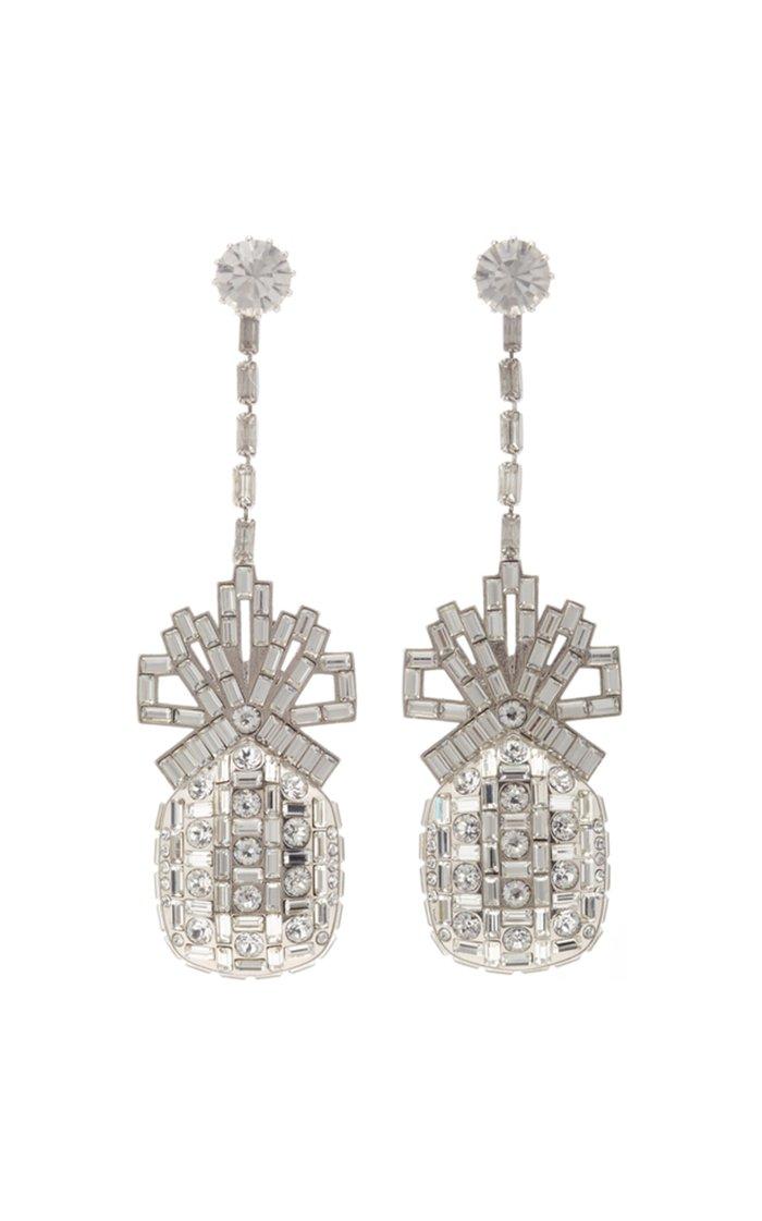 Pineapple Swarovski Crystal Drop Earring