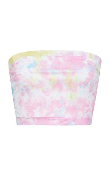 + RE/DONE Venice Strapless Tie-Dye Bikini Top