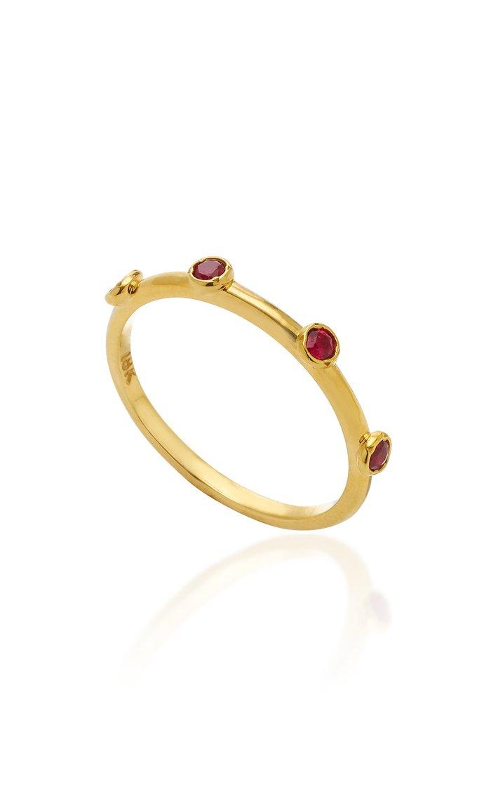 18K Gold Ruby Ring
