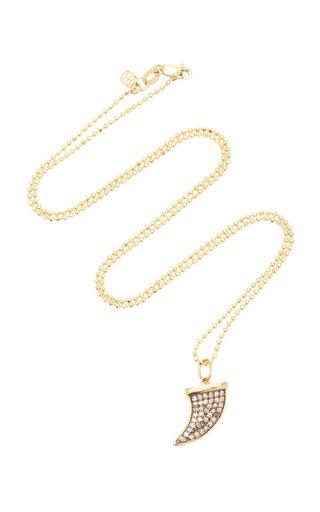 14K Yellow Gold, Rhodium, Champagne Diamond Necklace