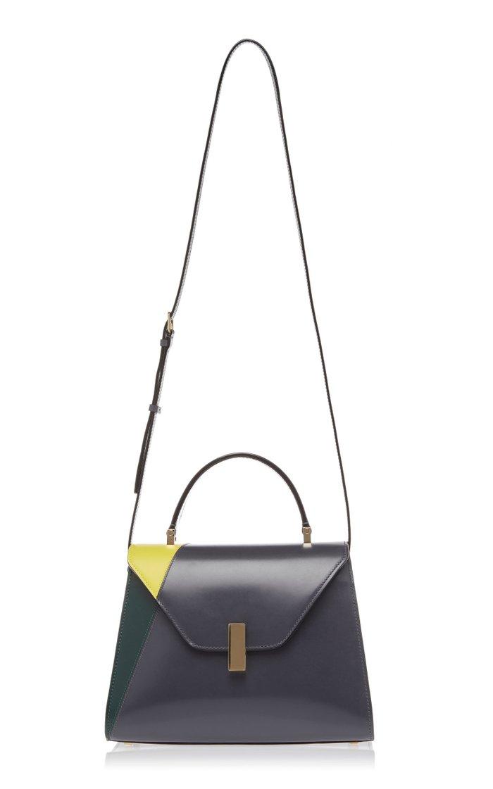 Iside Color-Blocked Leather Shoulder Bag
