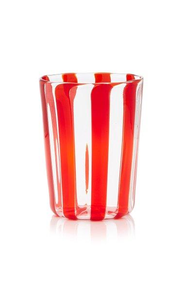 Set-of-Four Large Berlingot Striped Glasses