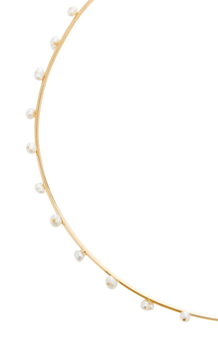 18K Gold and Pearl Jasmine Choker