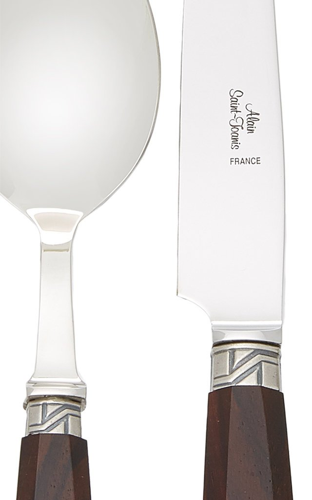 Sancy Rosewood Stainless Steel Silverware Set
