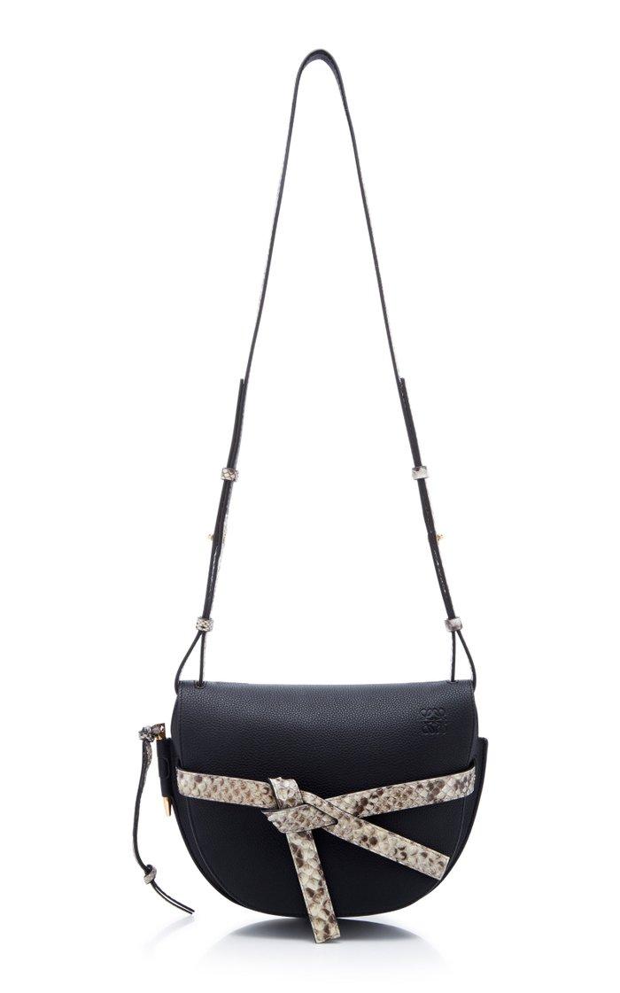 Gate Python And Leather Shoulder Bag