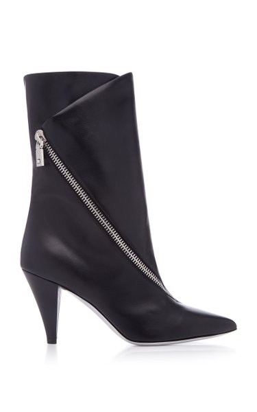 Show Zip Leather Ankle Boot