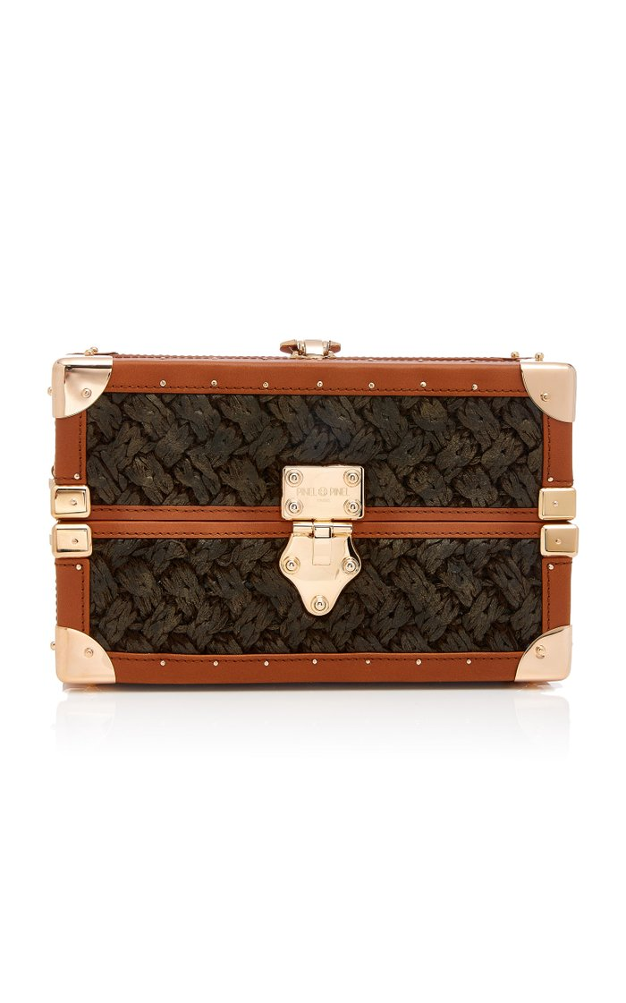 Mini-Malle Leather And Knit Trunk