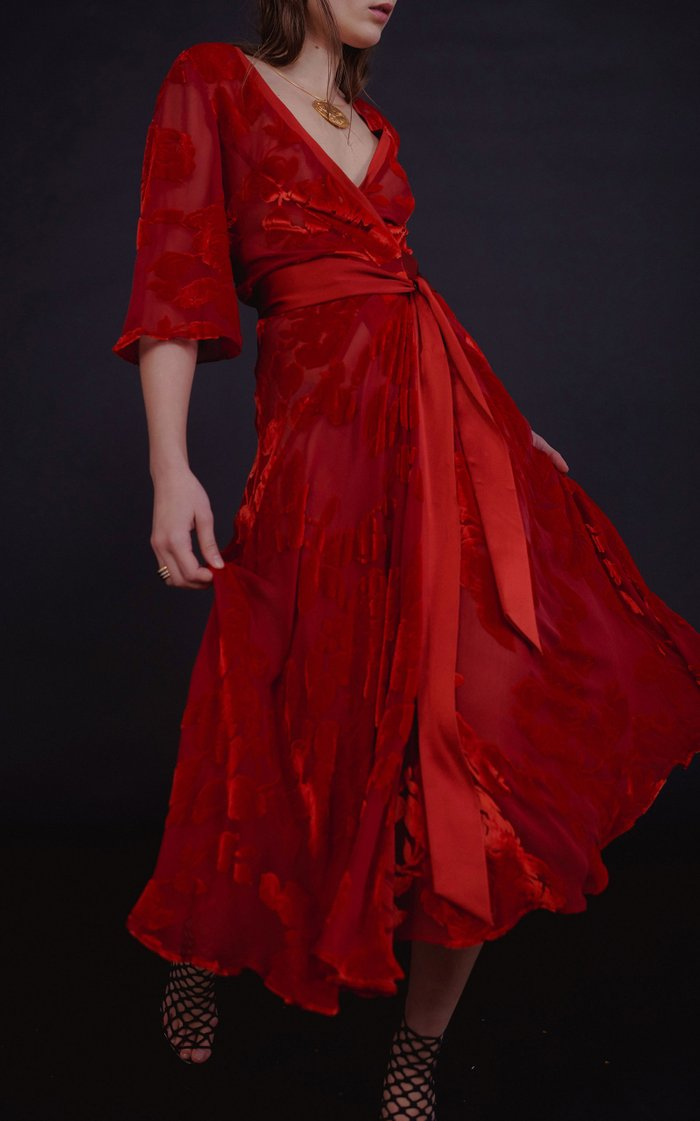 Rose Wrap Dress
