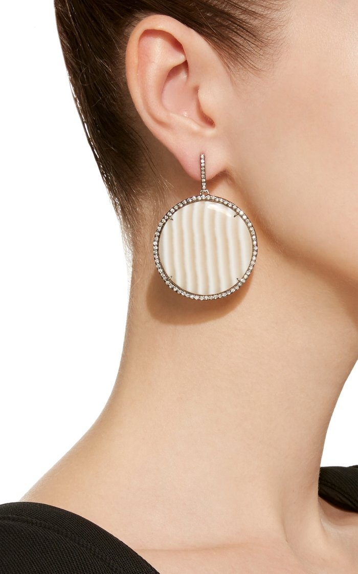 One-Of-A-Kind Striped Chalcedony Discs