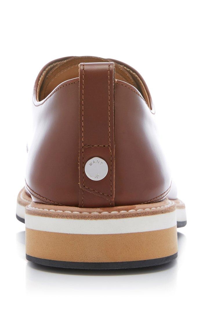 Montoro Cognac Leather Derby Shoes