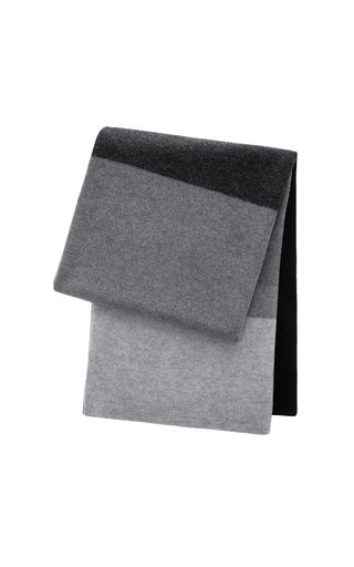 Array Gray and Black Cashmere Blanket