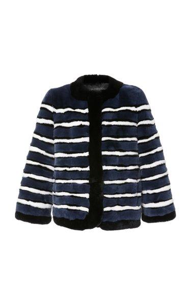 The Greta Striped Rabbit Jacket