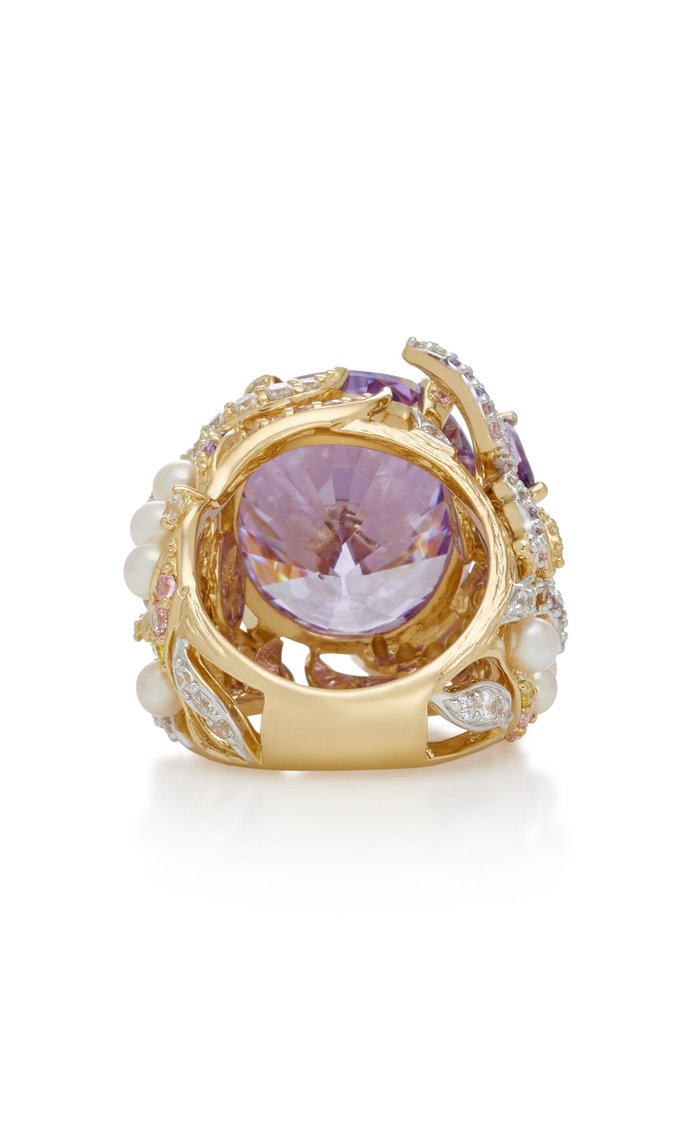 Lilac Swallowtail 18K Gold Vermeil Multi-Stone Ring