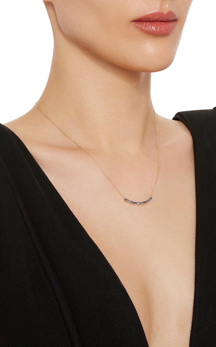 Noemi 14K Gold Blue Sapphire Necklace