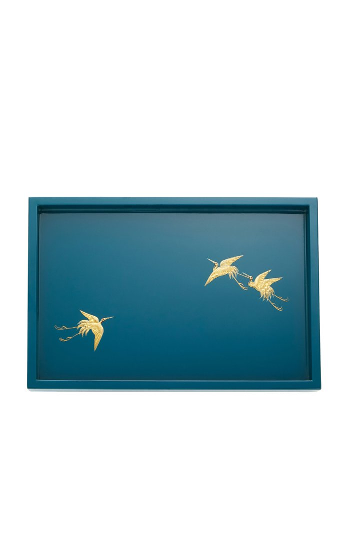 Lacquered Wood Tray