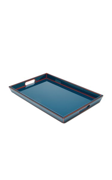 Two-Tone Lacquered Wood Tray