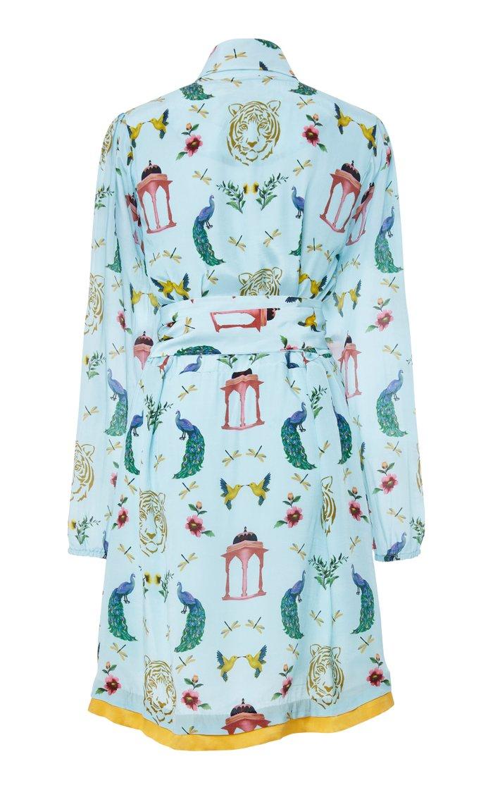 Wrap Tie Mini Dress
