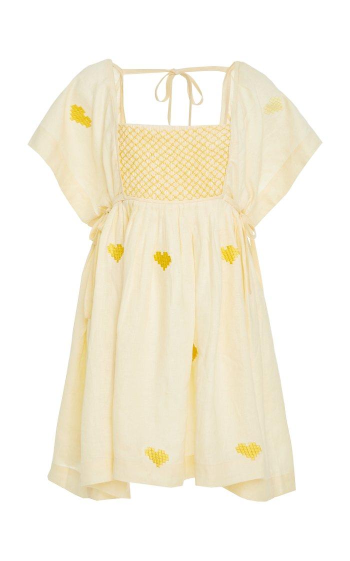 Farmer Smock Linen Dress