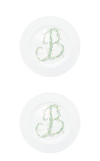 M'O Exclusive Set-Of-Two Monogram Soup Plate