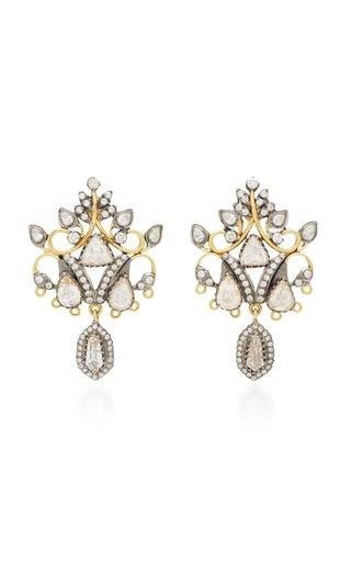 18K Black And Yellow Gold Diamond Earrings