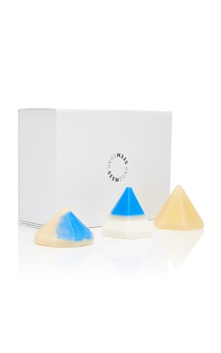Hand-Made Color-Blocked Pyramid Soap Set
