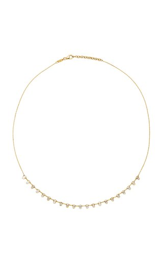Baguette Diamond & 18K Yellow Gold Necklace