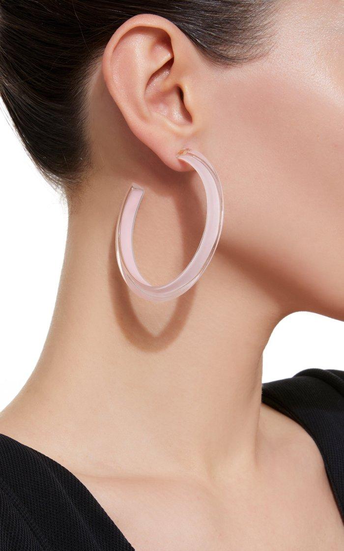 Medium Jelly Lucite Hoop Earrings