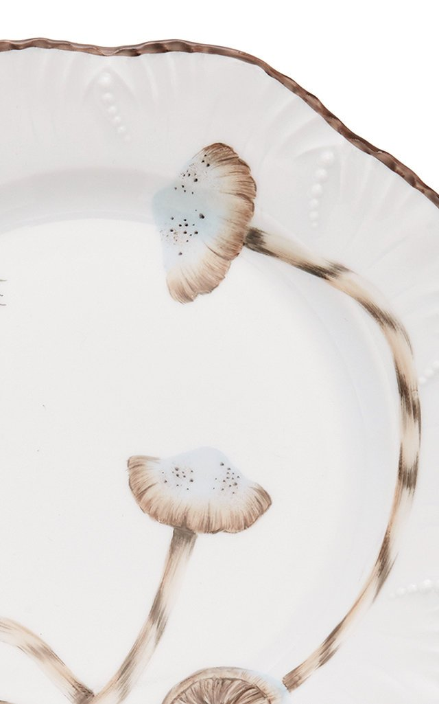 Set-of-Two Les Champignon Porcelain Dessert Plates