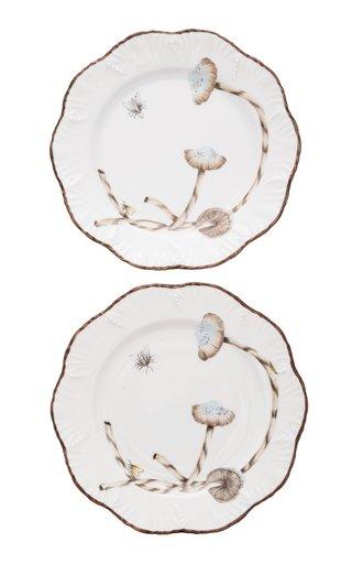 Set-of-Two Les Champignon Porcelain Dessert Plates