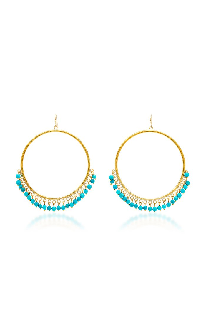 Mnara Earring Bronze With Turquoise Stones