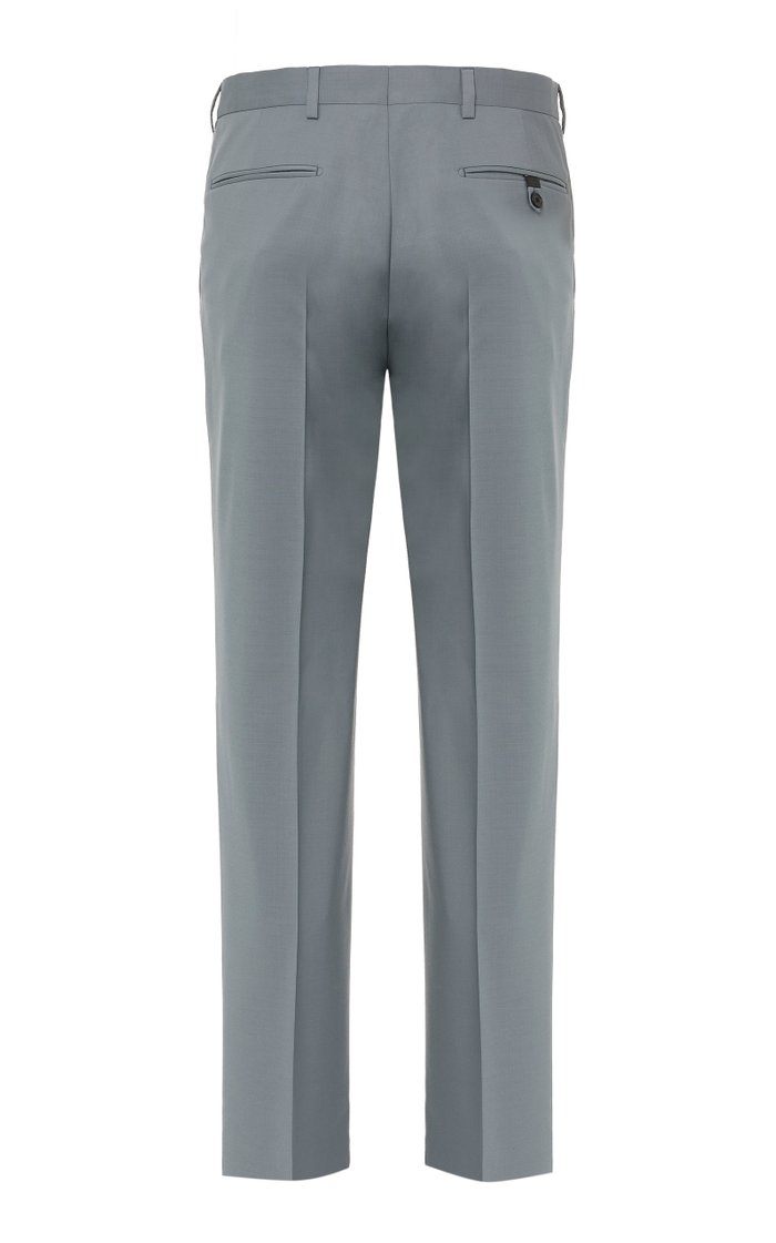 Wool And Mohair Slim-Leg Pants