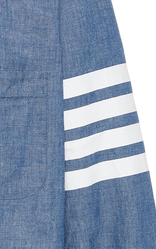 Striped Cotton-Chambray Shirt