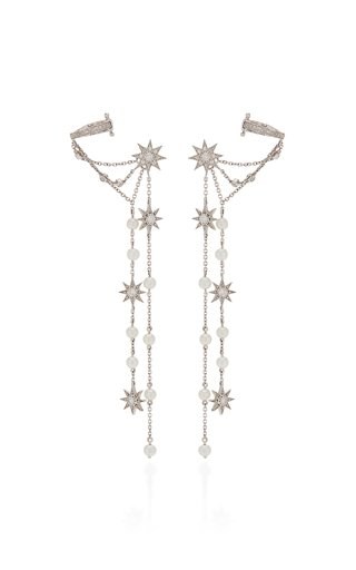Star Dust 18K White Gold Diamond Single Earring