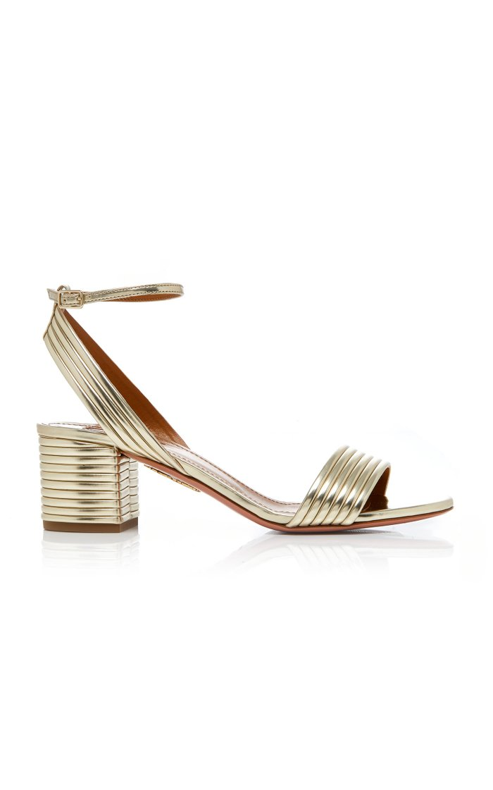 Sundance Metallic Leather Sandals