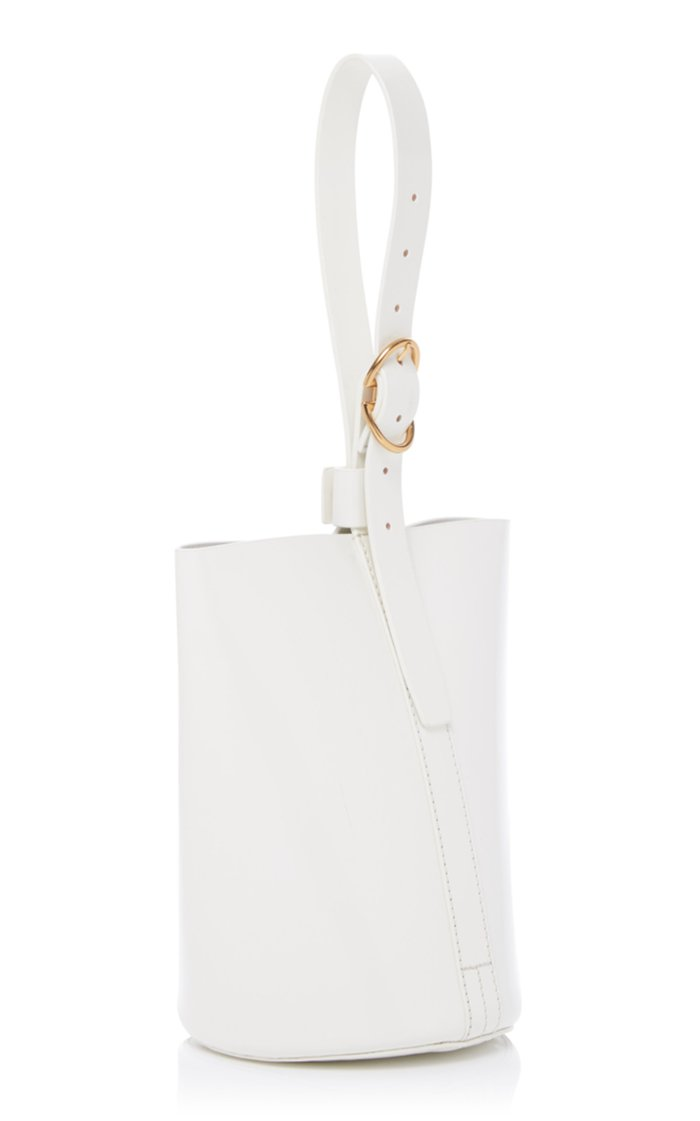 Small Classic Leather Bucket Bag
