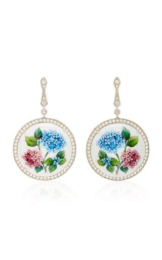 Flower Addiction Silver Drop Earrings