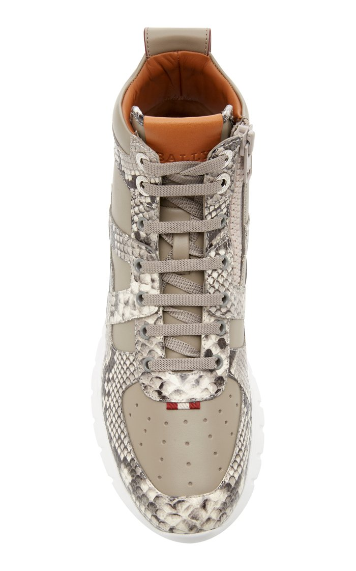 Birko Snake-Effect Leather High-Top Sneakers