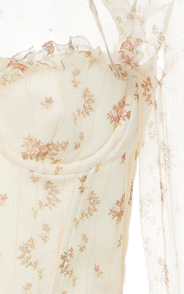 Olivia Floral Silk Dress