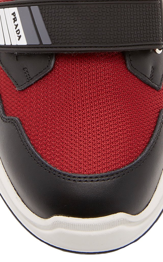 Novo Calf Bike 1 Two-Tone Leather, Rubber And Mesh Sneakers