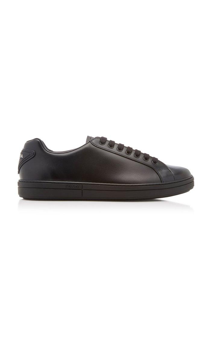 Vitello Plume Low-Top Leather Sneakers