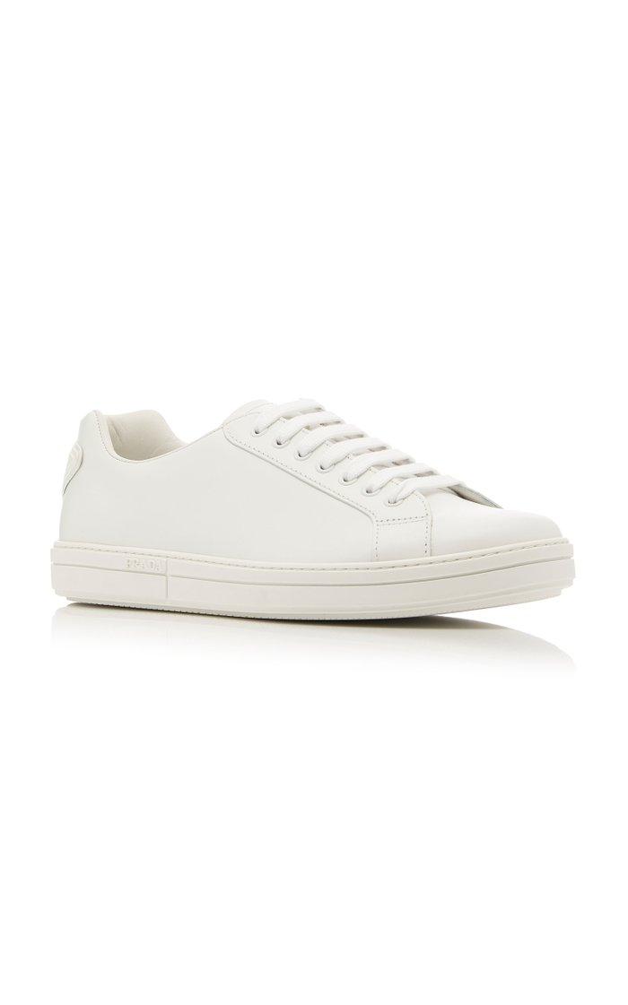 Vitello Plume Leather Sneakers