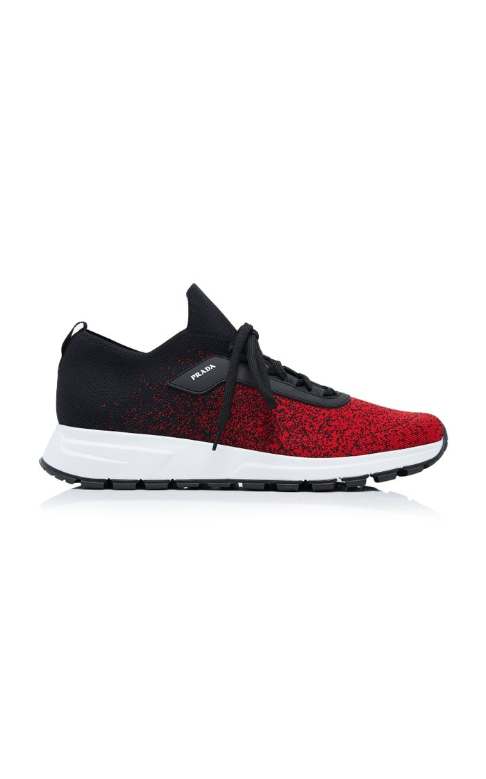 Knit 2 Mesh And Rubber Sneakers