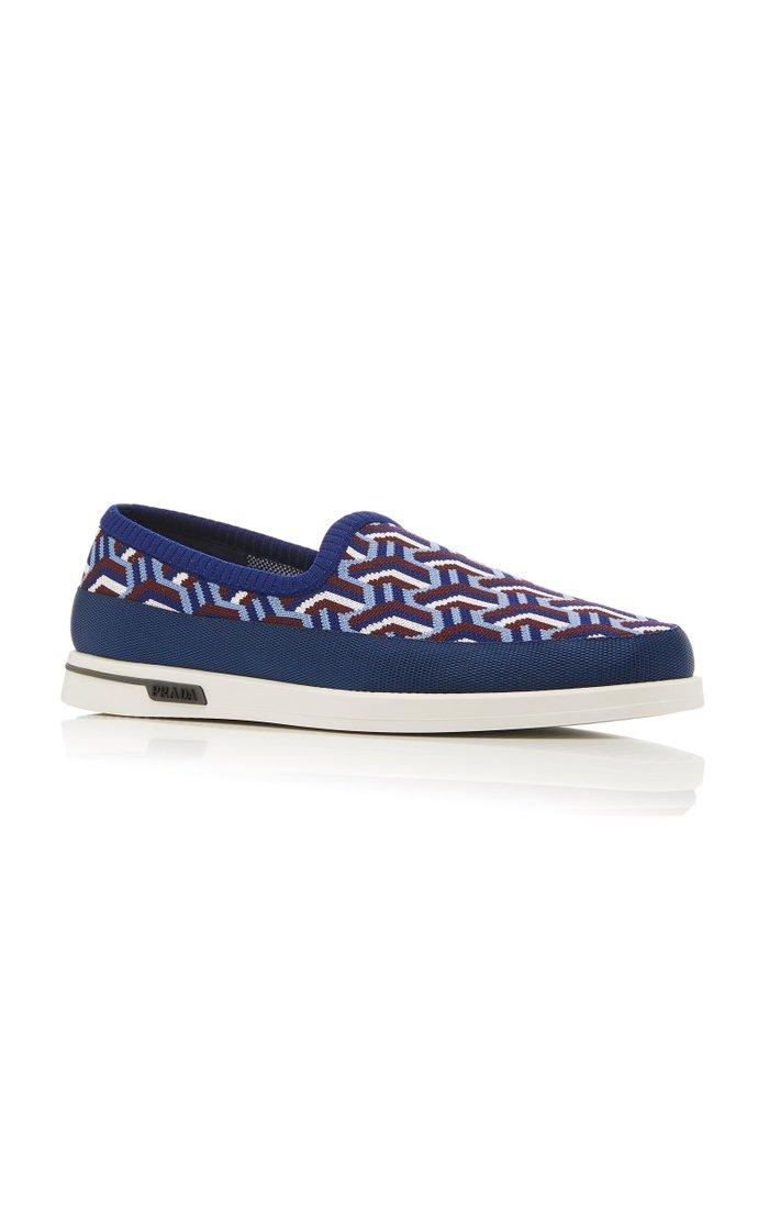 Knit Jacquard Slip-On Sneakers