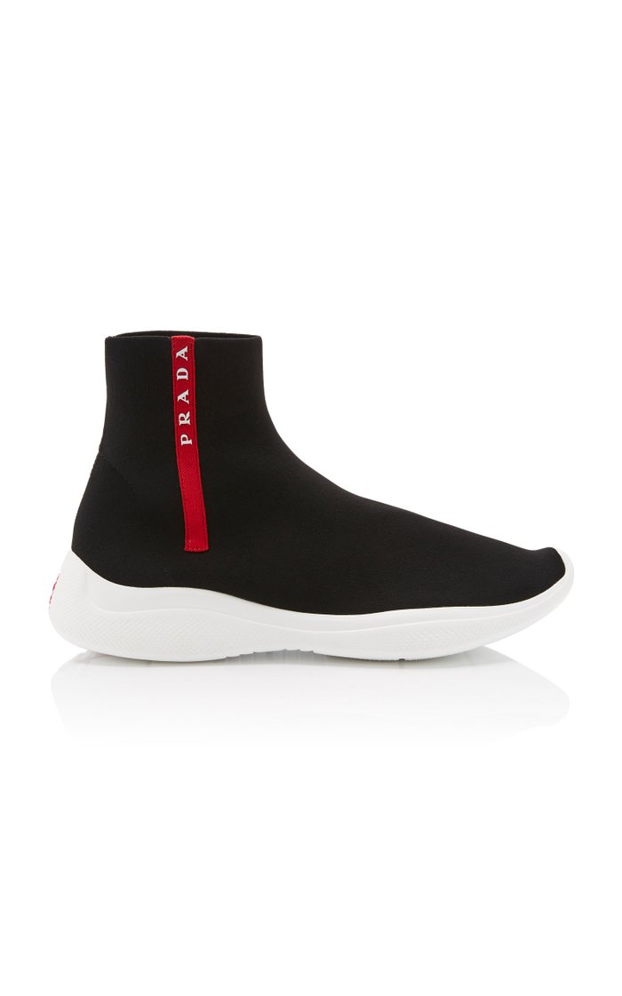 High-Top Logo Sock Sneakers