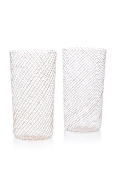 Set-Of-Two Filigree Tall Glasses