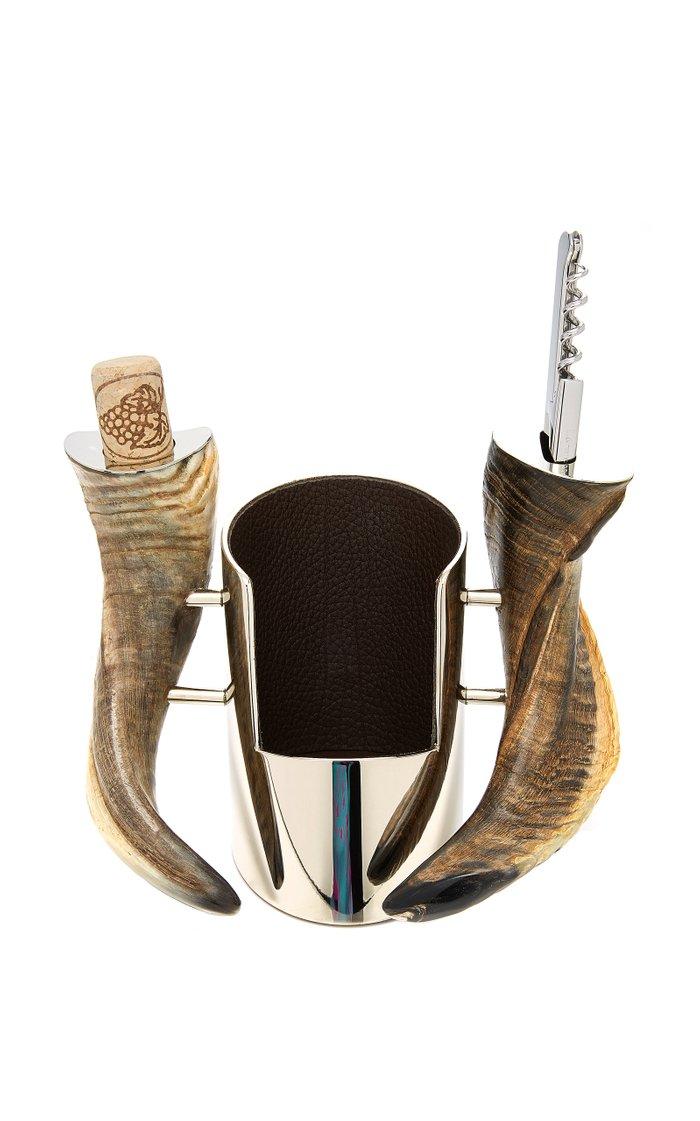 Ram Horn Wine Bottle Rest
