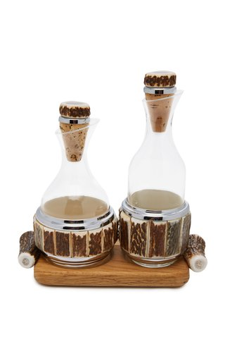 Stag Antler Tabletop Bottle Set