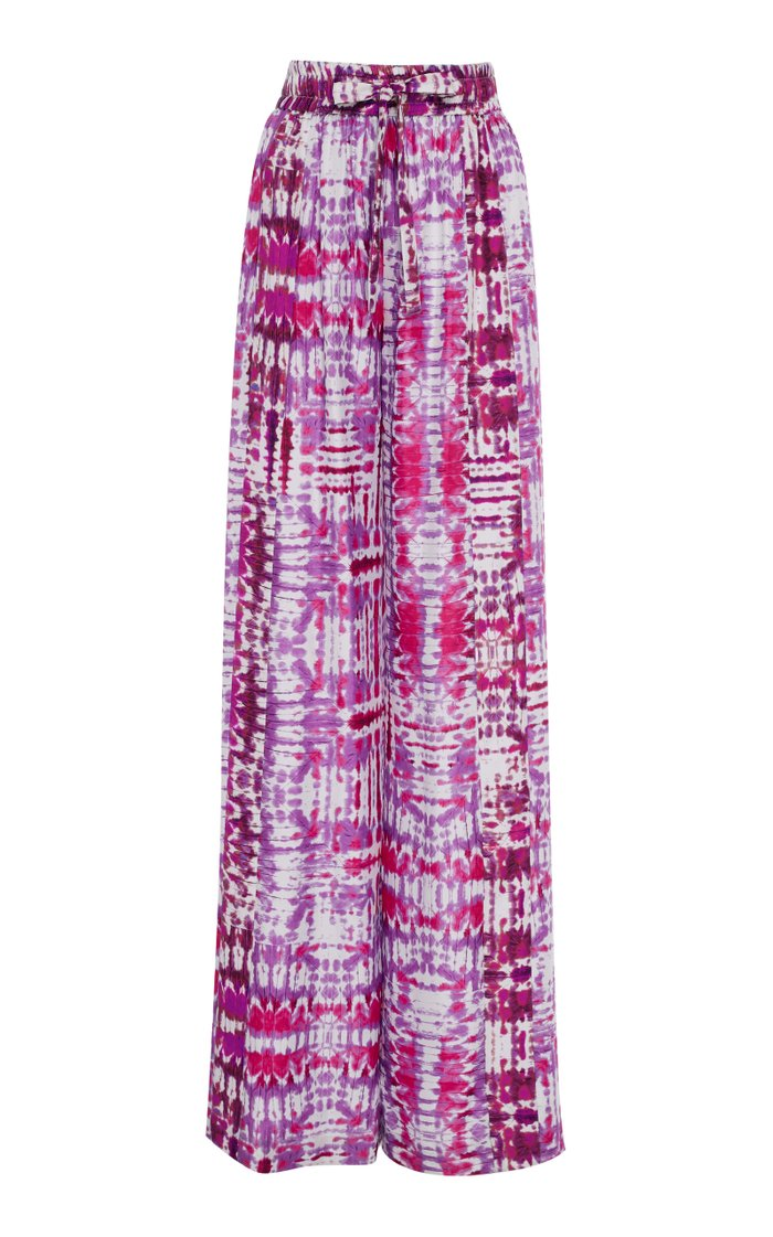 Exclusive Tie-Dye Silk Pajama Set