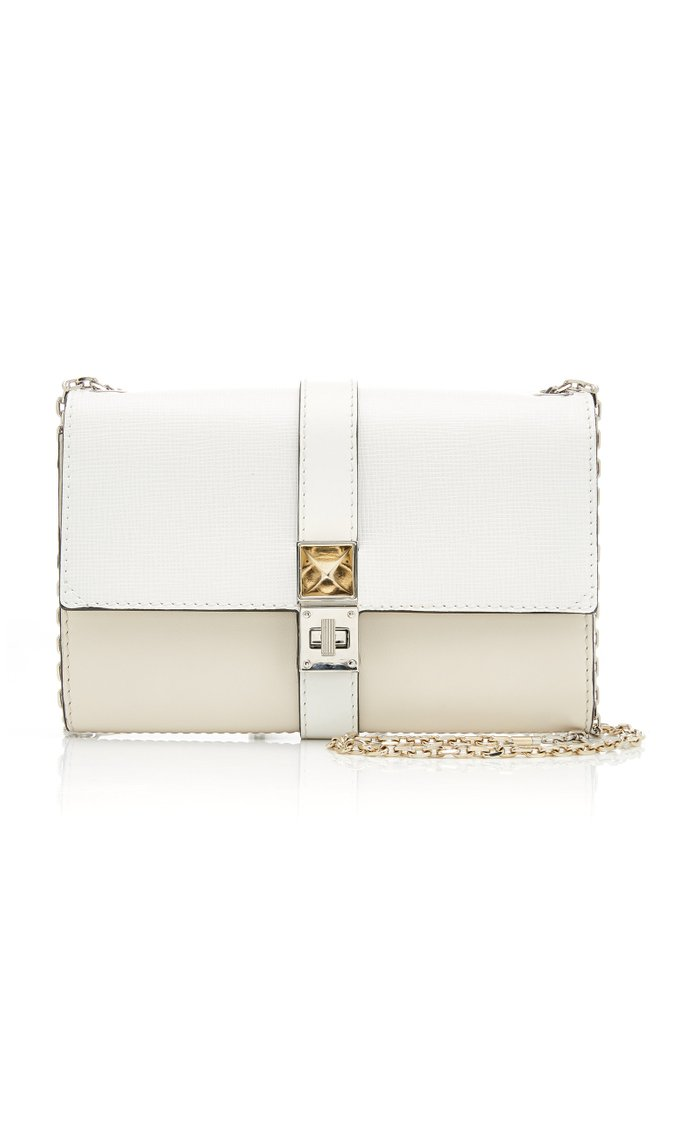 PS11 Two-Tone Leather Chain Bag